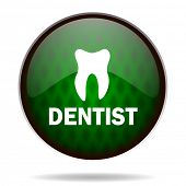 dentist green internet icon