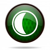 moon green internet icon