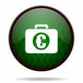 financial green internet icon