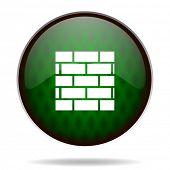 firewall green internet icon