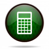 calculator green internet icon