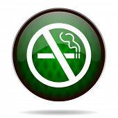 no smoking green internet icon