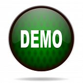 demo green internet icon