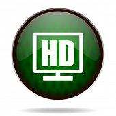 hd display green internet icon
