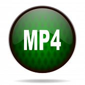 mp4 green internet icon