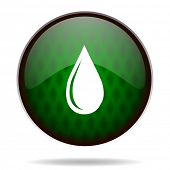 water drop green internet icon