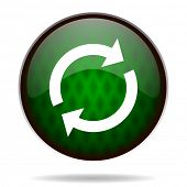 reload green internet icon