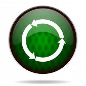refresh green internet icon