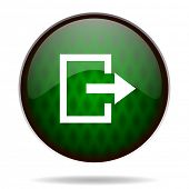 exit green internet icon