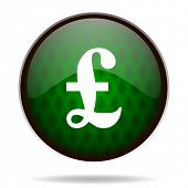 pound green internet icon