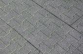 Rubber Tiles On Floor Closeup
