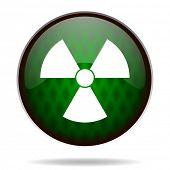 radiation green internet icon