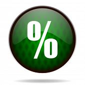 percent green internet icon
