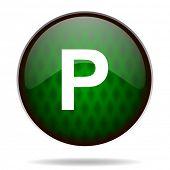 parking green internet icon