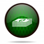 money green internet icon