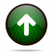 up arrow green internet icon