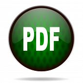 pdf green internet icon