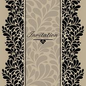 Invitation vector ornamental card.