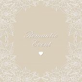 Invitation vector card. Flower lace ornament.