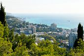 View Of Yalta City And Seafront, Crimea