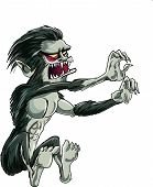 pic of wolfman  - Cartoon jumping Wolf - JPG