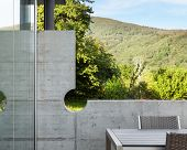 Architecture modern design, outdoor, detail wall