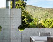 Architecture modern design, outdoor, detail wall