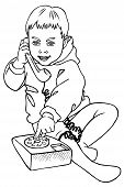 Boy And Phone