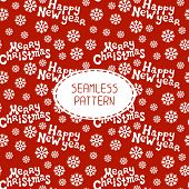 Vector Christmas seamless pattern. Merry Christmas and Happy New Year lettering greeting card 2015.