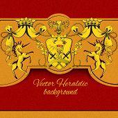 Heraldic colored background