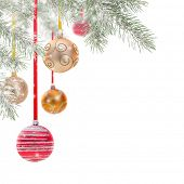 Abstract Christmas background isolated on white.