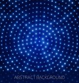 Abstract blue background with glowing dots