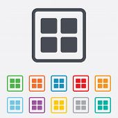Thumbnails icon. Gallery view option symbol.