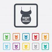 Pregnant woman shirt sign icon. Maternity symbol