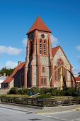 stock photo of falklands  - Historic Christchurch Cathedral in Stanley - JPG
