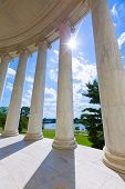 image of thomas jefferson memorial  - Thomas Jefferson memorial in Washington DC USA - JPG