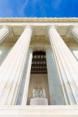 stock photo of abraham  - Abraham Lincoln Memorial building Washington DC US USA - JPG