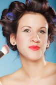 image of blush  - Cosmetic beauty procedures and makeover concept - JPG