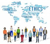 foto of morals  - Ethics Ideals Principles Morals Standards Concept - JPG