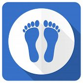 image of flat-foot  - foot blue flat icon   - JPG