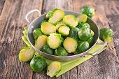 stock photo of brussels sprouts  - brussel sprouts - JPG