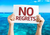 picture of saying sorry  - No Regrets card with beach background - JPG