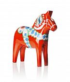 picture of paint horse  - A Traditional Dalecarlian horse or Dala horse  - JPG