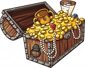 picture of treasure chest  - Cartoon treasure chest - JPG