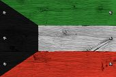 picture of kuwait  - Kuwait national flag - JPG