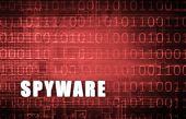 pic of spyware  - Spyware on a Digital Binary Warning Abstract - JPG