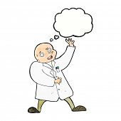 picture of mad scientist  - cartoon mad scientist - JPG