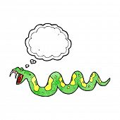 pic of poison  - cartoon poisonous snake with thought bubble - JPG