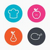 picture of meat icon  - Circle buttons - JPG