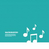 picture of musical symbol  - Background with seamless pattern - JPG